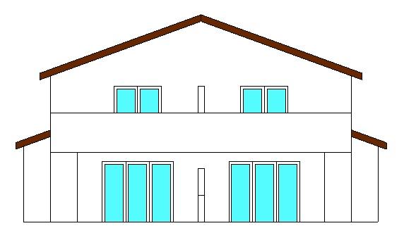 Projekte 3-Mehrfamilienhaus (LPH 1 - 4), Eggenfelden Ansicht Ost vom Ingenieurbüro Markon in Engelsberg